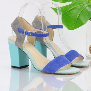 Calvin Klein Verla Dress Sandal Block Heel Aqua